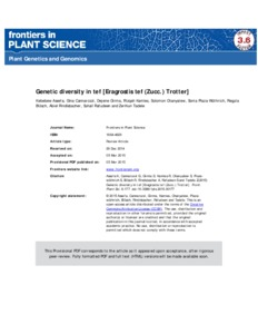 genetic diversity in wheat pdf