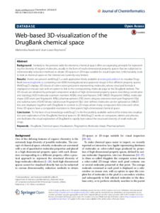 Web Based 3d Visualization Of The Drugbank Chemicale